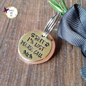 Personalised Copper & Brass Dog ID Pet Tags-Dog Tag-Sparkle & Dot Designs