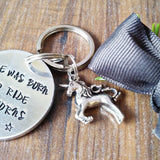 Born To Ride Unicorns Hand Stamped Keyring - Sparkle & Dot Designs