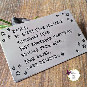 Child Infant Loss Memory Wallet Card-Wallet Card-Sparkle & Dot Designs