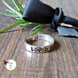 Personalised Unique Sterling Silver Cuff Ring-Silver Cuff Ring-Sparkle & Dot Designs