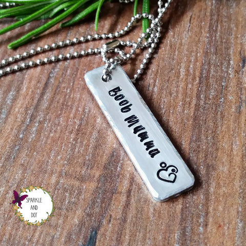 Hand Stamped Breastfeeding Necklace - Sparkle & Dot Personalised Hand Stamped Designs