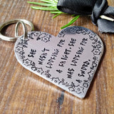 Big Heart Feminist Quote Keychain - sparkle-dot-designs