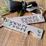 Personalised GPS Coordinates Split Heart Keyring-Keyring-Sparkle & Dot Designs