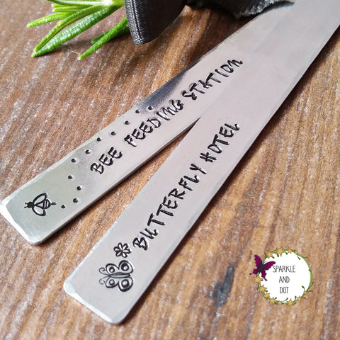 Metal Plant Herb Garden Markers-Plant Markers-Sparkle & Dot Designs