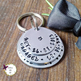 Personalised 10th Anniversary Dates Keyring-Keyring-Sparkle & Dot Designs