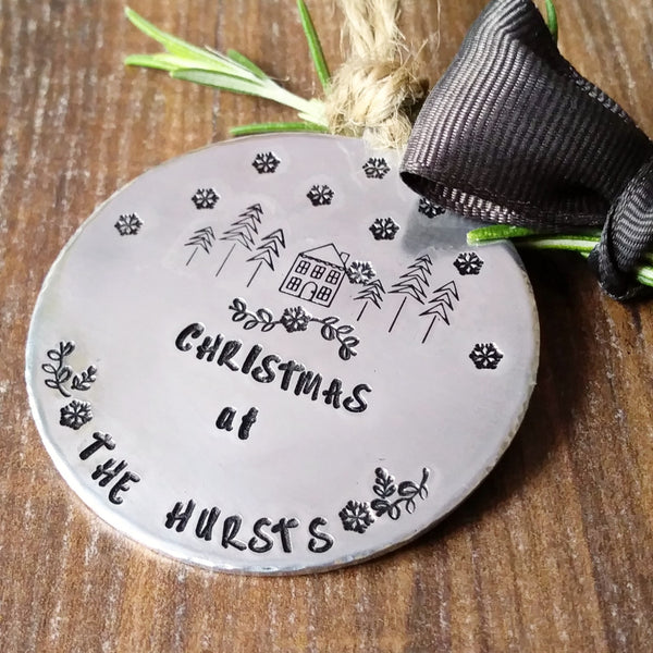 Family Christmas Tree Decoration Newlywed Bauble-Christmas Keepsake-Sparkle & Dot Designs