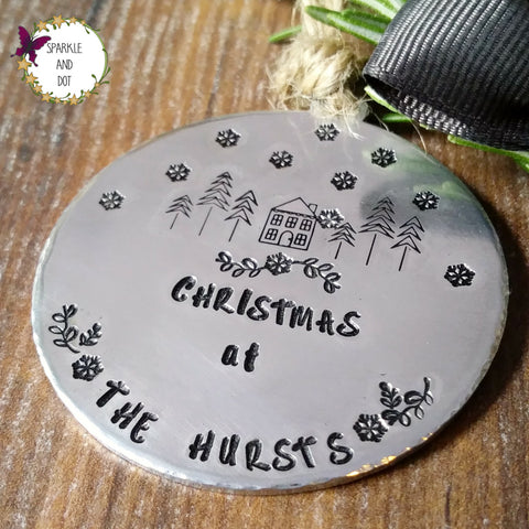 Family Christmas Tree Decoration-Christmas Keepsake-Sparkle & Dot Designs