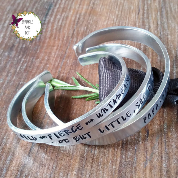 Personalised Hand Stamped Metal Bracelet-Bracelet-Sparkle & Dot Designs