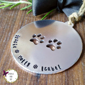Personalised Pet Christmas Tree Decoration-Christmas Keepsake-Sparkle & Dot Designs