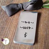 Personalised Money Clip - Sparkle & Dot Hand Stamped