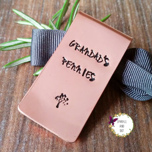 Personalised Copper Money Clip-Money Clip-Sparkle & Dot Designs