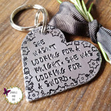 Feminist Quote Heart Keychain-Keyring-Sparkle & Dot Designs