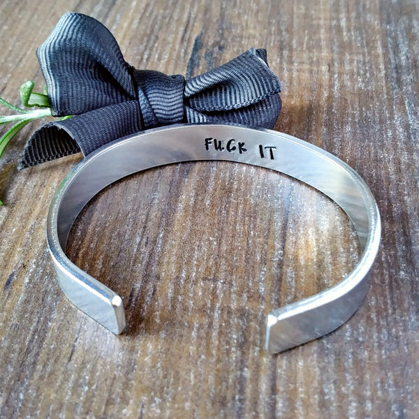 Personalised Hidden Message Swear Bracelet-Bracelet-Sparkle & Dot Designs