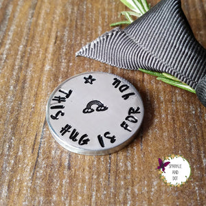 Personalised Rainbow Hug Pocket Token Sparkle & Dot Designs