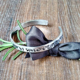All Is Well Mindfulness Quote Bracelet-Bracelet-Sparkle & Dot Designs