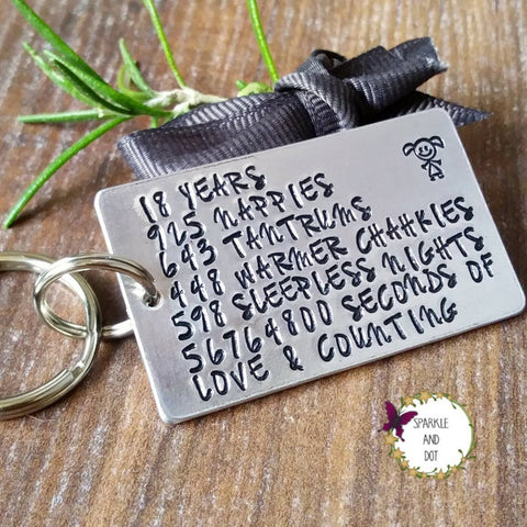 Personalised Special Birthday Milestone Keyring-Keyring-Sparkle & Dot Designs