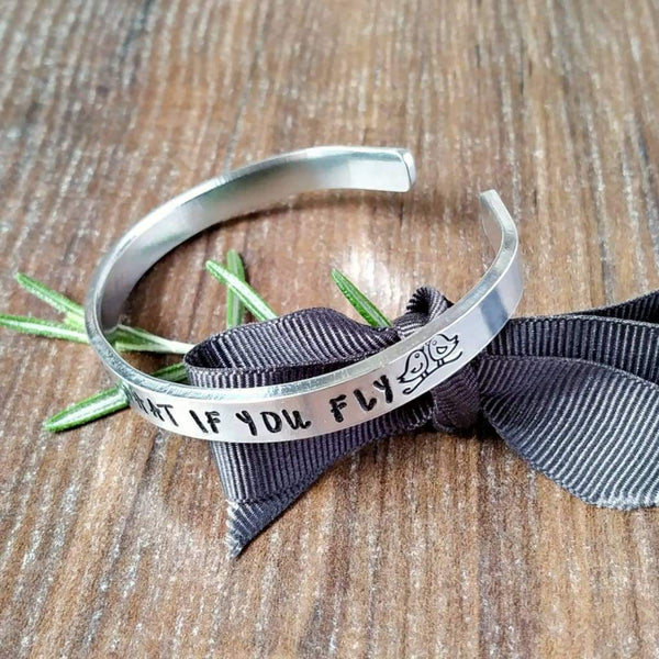 But Oh My Darling What If You Fly Quote Bracelet-Bracelet-Sparkle & Dot Designs
