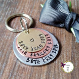 Special Dates Mixed Metal Anniversary Keyring