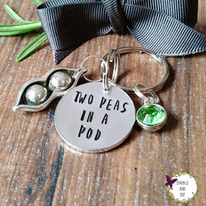 Two Peas In A Pod Best Friend Keyring-Keyring-Sparkle & Dot Designs