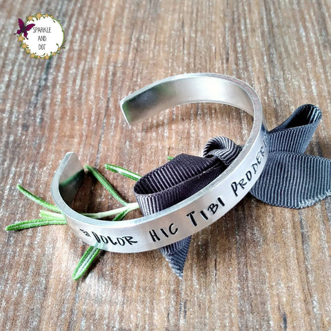 Unisex Latin Quote Bracelet-Bracelet-Sparkle & Dot Designs