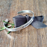 Warrior Hand Stamped Cuff Bracelet Mental Health Gifts-Bracelet-Sparkle & Dot Designs