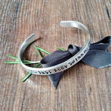 Just Keep Swimming Hand Stamped Bracelet - Sparkle & Dot Personalised Hand Stamped Designs