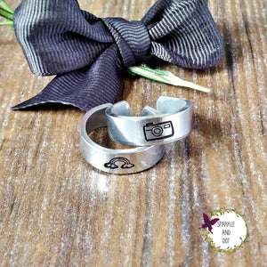 Custom Design Cuff Ring-Cuff Ring-Sparkle & Dot Designs