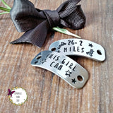 Personalised Custom Hand Stamped Trainer Tags, - Sparkle & Dot Designs