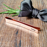 Personalised Groomsmen Gifts, Copper Tie Bar, Best Man Gifts, Hand Stamped Gift, - Sparkle & Dot Designs