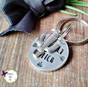 Swear Word Cactus Keyring-Keyring-Sparkle & Dot Designs