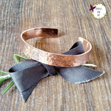 Customised Hammered Copper Quote Bracelet-Bracelet-Sparkle & Dot Designs
