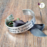 You're Strong Mantra Wide Hand Stamped Bracelet-Bracelet-Sparkle & Dot Designs