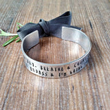 Anxiety Quote Hand Stamped Bracelet - sparkle-dot-designs