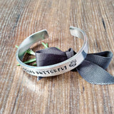 Gifts For Introverts Hand Stamped Butterfly Bracelet - Sparkle & Dot Designs