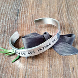 Never Let Anyone Dull Your Sparkle Hand Stamped Bracelet, - Sparkle & Dot Designs