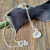Silver Minimalist Personalised Initial Necklace-Necklace-Sparkle & Dot Designs