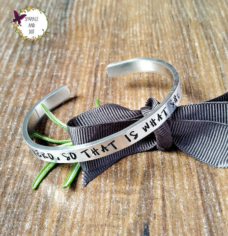 She Needed A Hero Feminist Bracelet, Hand Stamped Gift, - Sparkle & Dot Personalised Hand Stamped Designs