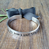 Love You To The Moon and Back Hidden Message Bracelet, Hand Stamped Gift, - Sparkle & Dot Designs