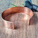 Women's Chunky Mandala Inspired Copper Bracelet - Sparkle & Dot Personalised Hand Stamped Designs