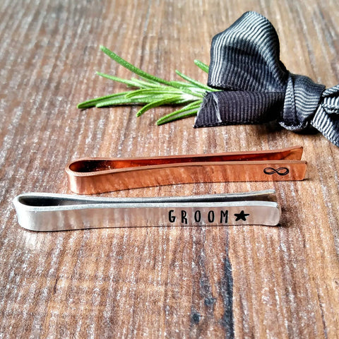 Personalised Tie Bar Clip-Tie Bar Clip-Sparkle & Dot Designs