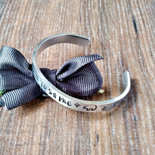 Small Sized Personalised Cuff Bracelets-Bracelet-Sparkle & Dot Designs