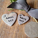 Personalised Valentine's Marry Me Proposal Love Heart Sparkle & Dot Hand Stamped