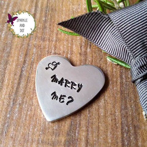Personalised Proposal Token | Marry Me Proposal Love Heart-Pocket Tokens-Sparkle & Dot Designs