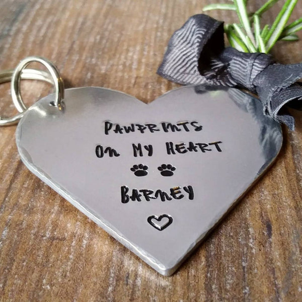 Personalised Pet Loss Memorial Keepsake Keyring-Keyring-Sparkle & Dot Designs