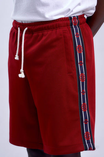BURGUNDY ROBOTICS SHORTS