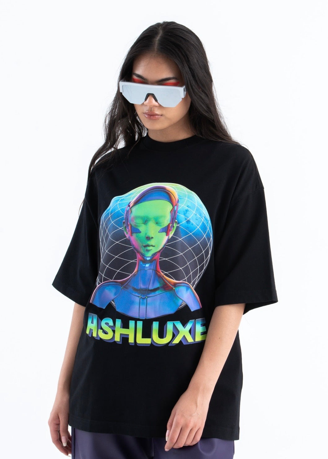 GLOW IN DARK CYBORG OVERSIZED T-SHIRT