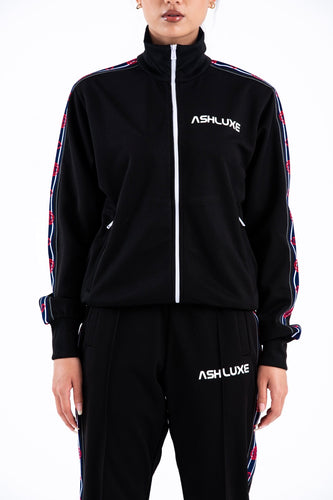 BLACK ROBOTICS TRACK JACKET