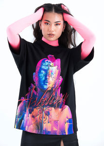 BLACK RELLIC OVERSIZED T-SHIRT
