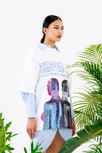WHITE BIPOLAR OVERSIZED T-SHIRT