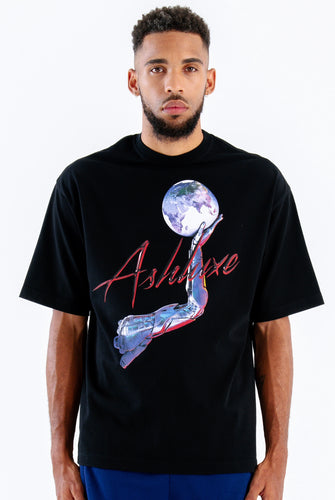 BLACK BIONIC ARM OVERSIZED T-SHIRT